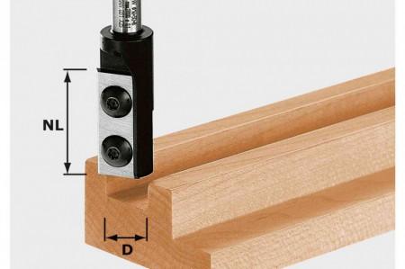 Freză de canelare cu plăcuţe amovibile HW S8 D10/25 WP Z1