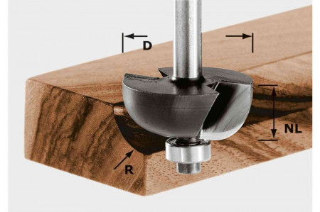 Freză tip cupă HW S8 D28,7/R8 KL