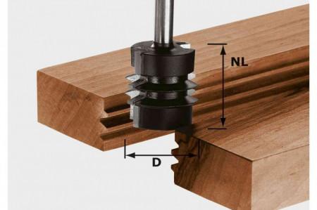 Freză pentru îmbinări încleiate nut şi feder HW S8 D34/NL32