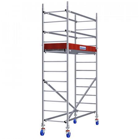 Schela Aluminiu Protec 0,6 x 2m, aluminiu, inaltime lucru 4,3m (0+Comp.+Roti)