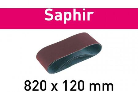Banda abraziva 820x120-P120-SA/10 Saphir