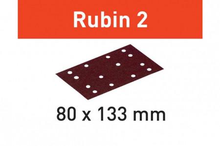 Foaie abraziva STF 80X133 P180 RU2/50 Rubin 2