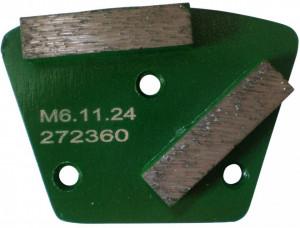 Placa cu segmenti diamantati pt. slefuire pardoseli - segment dur (verde) - # 40 - prindere M6 - DXDH.8506.11.24