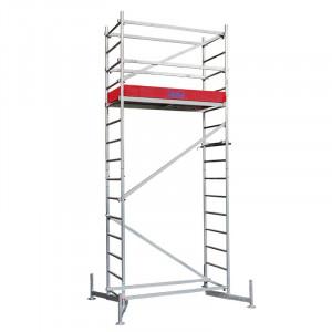 Schela din aluminiu Climtec 0,6 x 1.5m, aluminiu, inaltime lucru 5 m, modul 0+1