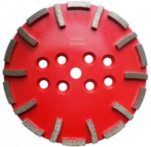 Disc cu segmenti diamantati pt. slefuire pardoseli - segment mediu - Rosu - 250 mm - prindere 19mm - DXDH.8500.250.43
