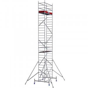 Schela Aluminiu Protec 0,6 x 2m, aluminiu, inaltime lucru 9,3m (0+1+2+3+Roti)