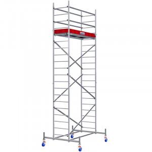 Schela din aluminiu Protec 0,6 x 2m, aluminiu, inaltime lucru 6,3m (0+1+6+Roti)