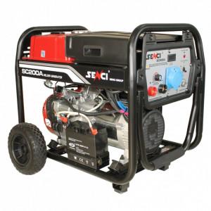 Generator curent si sudura Senci SC-200A, Putere max. 5.5 kw, 230V, AVR, motor benzina