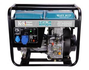 Generator de curent 6.5 kW diesel - Heavy Duty Euro 2 - Konner & Sohnen - KS-8102DE-HD
