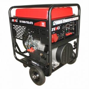 Generator de curent trifazat SC15000TE-ATS Putere max. 13 kW 400V, AVR motor benzina