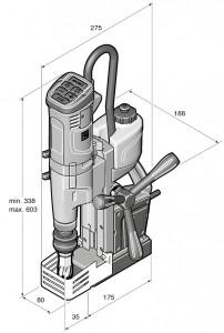 Masina de gaurit cu talpa electromagnetica FEIN KBU 35 MQW
