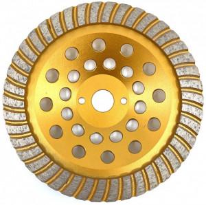 Cupa diamantata segment TURBO - Granit/Piatra 180x22.2mm Premium - DXDY.PTGC.180