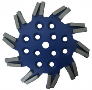 Disc stea cu segmenti diamantati pt. slefuire pardoseli - segment dur - Albastru - 250 mm - prindere 19mm - DXDH.8501.250.11.23