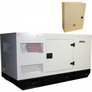 Generator de curent Insonorizat Senci SCDE 25YS-ATS, Putere max. 19.8 kW, 400V, AVR, ATS