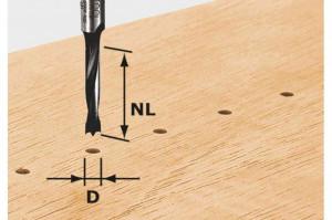 Burghiu pentru găuri de dibluri HW D3/16