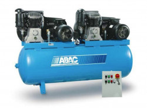 Compresor de aer Debit 1654 l/min, Rezervor 500l Abac Tandem PRO B6000 500 T7,5