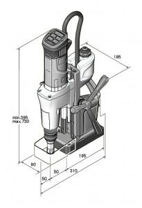 Masina de gaurit cu talpa electromagnetica Fein KBM 50 U