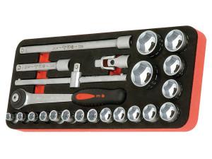 """Modul OSC cu 23 capete tubulare si accesorii 1/2"""" DH 23 scule"""