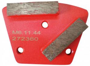 Placa cu segmenti diamantati pt. slefuire pardoseli - segment mediu (rosu) - # 16 - prindere M6 - DXDH.8506.11.41