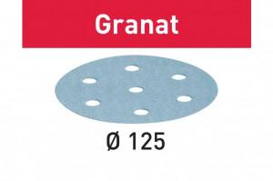 Foaie abraziva STF D125/8 P80 GR/50 Granat