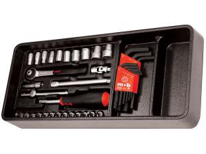 """Modul PVC cu 38 capete tubulare accesorii 1/4"""" DH 38 scule"""