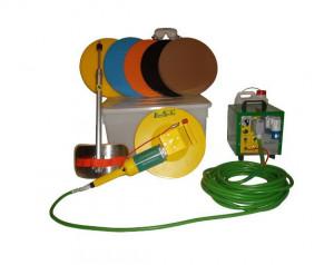 Drisca electrica - Finisare umeda tencuieli si gleturi mecanizate, pompa de apa incorporata + cutie de accesorii - LS-SM22