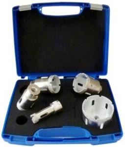 Set carote diamantate pt. gresie portelanata & piatra - diam. 20, 35, 45, 50, 68mm Super Premium - DXDH.80407.Satz20-68