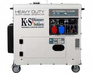 Generator de curent 7.5 kW diesel - Heavy Duty Euro 2 - insonorizat - Konner & Sohnen - KS-9202DE-1/3-HD-ATSR- Silent