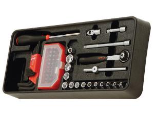"""Modul PVC cu 61 capete tubulare accesorii 1/4"""" DH 61 scule"""