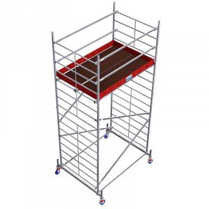 Schela din aluminiu Protec XXL 1,2 x 2m, aluminiu, inaltime lucru 5,3m