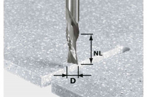 Bit de freză pentru şlefuire brută şi finisare HW Spi D12/42 LD ss S12