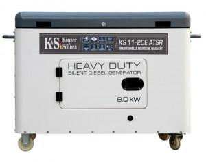 Generator de curent 8 kW diesel - Heavy Duty - insonorizat - Konner & Sohnen - KS-11-2DE-ATSR--Silent