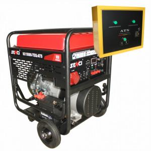 Generator de curent trifazat Senci SC-15000TE-EVO-ATS, Putere max. 13 kW 400V, AVR, ATS