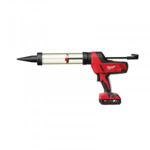 Pistol aplicare Milwaukee silicon cu acumulator MODEL C18 PCG-400T-201B, 400ML