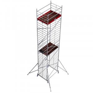 Schela din aluminiu Protec XXL 1,2 x 2m, aluminiu, inaltime lucru 10,3m