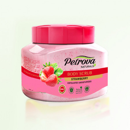 scrub de corp exfoliant petrova strawberry