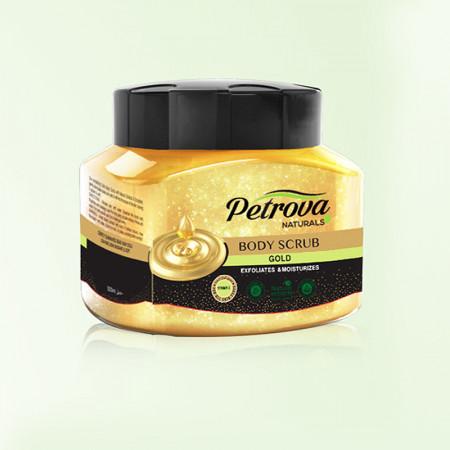 scrub de corp exfoliant petrova gold