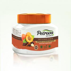 Exfoliant body scrub Apricot & Cocoa butter Petrova
