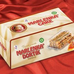 Tort Marlenka cu miere si nuca 100g
