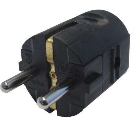 Šuko konektor muški  PVC crni