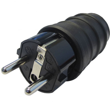Šuko konektor muški gumeni IP44 VK