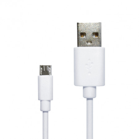 Kabl USB A na mikro USB B beli 2m