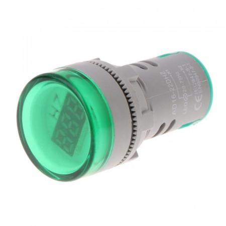 LED frekvencmetar 20-75Hz 22mm zeleni