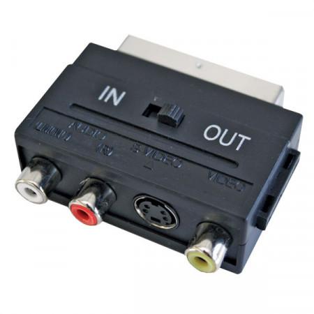 Adapter SCART muški na 3XRCA ženski IN/OUT