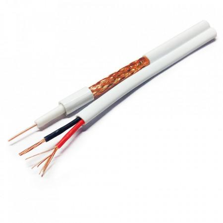 Koaksijalni kabl RG59+2x0.75 beli