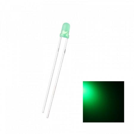 LED dioda 3mm zelena difuzna