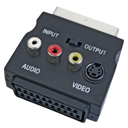 Adapter SCART muški i SCART ženski na 3XRCA ženski IN/OUT