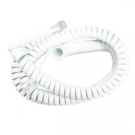 Kabl za telefonsku slušalicu 5m beli