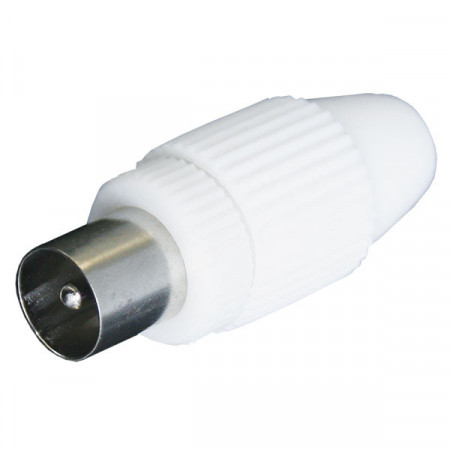 RF konektor muški plastični ravni