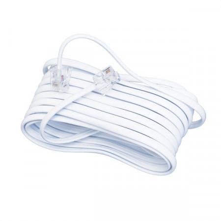 Kabl za telefonsku liniju 10m beli